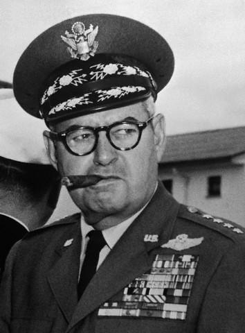 General Curtis LeMay, the US Air Force chief of staff from 1961 to 1965, who helped conceive the Nanda Devi spy mission